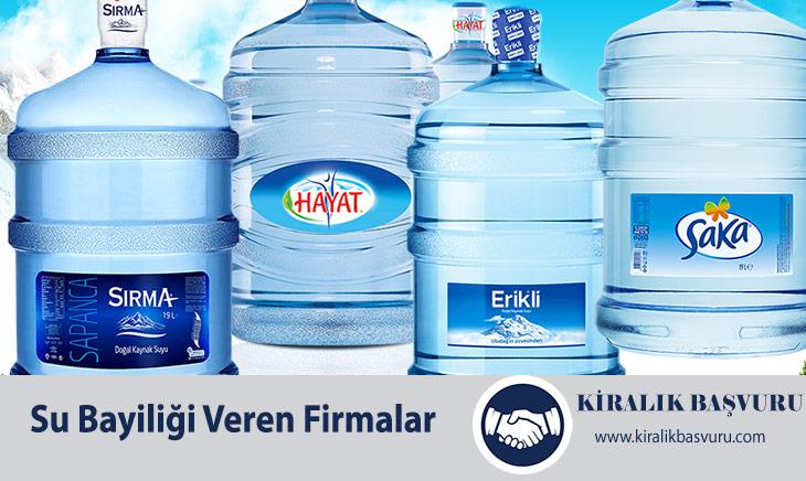 Su Bayiliği Almak ve Su Bayiliği Veren Firmalar